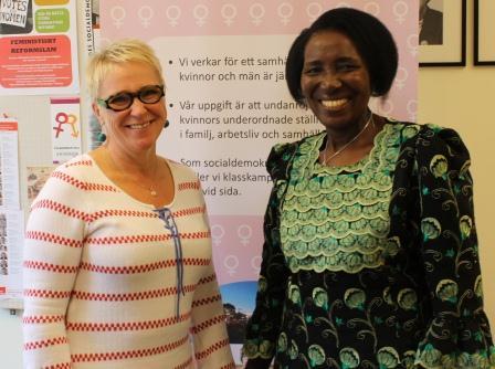 Susanne Andersson och Inonge Wina